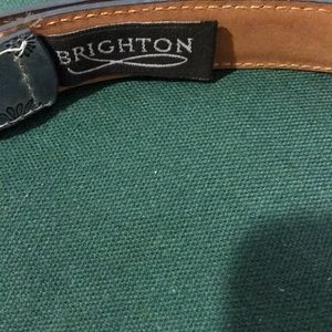 Brighton Accessories - BRIGHTON BLUE BELT EMBOSSED WITH FLOWERS.